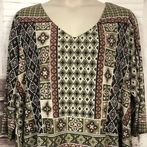 DB Established 1962 Tunic GreenTop Plus Sz. 3X